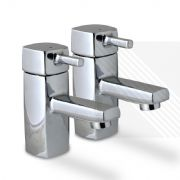 Arian Desire Basin Pillar Bathroom Taps in Chrome